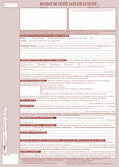 mandat de vente simple  d u00e9finition et engagements juridiques
